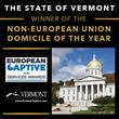 Vermont Wins Captive Insurance 'Non-European Union Domicile of the Year,' Captive Review Magazine Unveils European Captive Service Awards