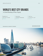 The World's Best City Brands Revealed in New Report by Resonance Consultancy.
