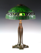 Tiffany Studios Turtleback Stained Glass Table Lamp