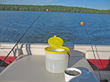 The Easy Life Bait bucket is a buoyant bait bucket that is equipped with a slotted rubber gasket that allows people to retrieve bait with only one hand.