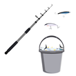One can simply reach in and retrieve the bait rather than having to use two hands to get the lid open, freeing up the other hand to hold the fishing pole.