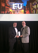Dan Towle and Dave Provost accept the Non-European Union Domicile of the Year Award for Captive Insurance
