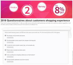 Sammydress questionnaire survey