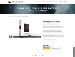 FCPX - ProTrailer Modern - Pixel Film Studios Plugin