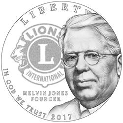 Lions Clubs International Centennial Silver Dollar Obverse