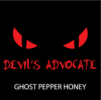 Logo for New Devil's Advocate Ghost Pepper Honey, the Hottest Gift of the Holiday Season