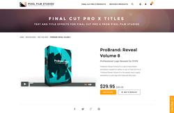 FCPX - ProBrand Reveal Volume 8 - Pixel Film Studios Plugin