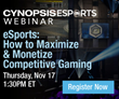 Agency, Brand and Networks to Speak at Cynopsis eSports Webinar on November 17
