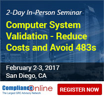 Computer System Validation - Reduce Costs and Avoid 483s