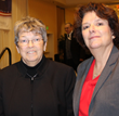 Mary K. Spengler, MS, CEO, Hospice of Westchester, and Sharon Haskins, Clinical Supervisor, Phelps Hospice