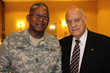Retired Staff Sergeant Kenneth Barnes and Ronald C. Tocci, director, Westchester County Veterans Service Agency