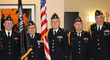 Members of the Hawthorne Post 112 American Legion Color Guard at the seventh annual Veterans Breakfast