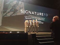 SignatureFD accepts the Best-in-Business IMPACT Award