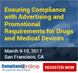 ComplianceOnline Announces On-Demand Seminar on Advertising and Promotional Requirements for Drugs and Medical Devices
