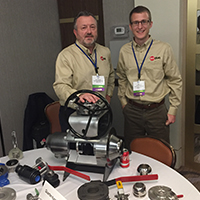 Nuclear Industry Director, Bill Henwood and Product Engineer, Josh Nelson represent ValvTechnologies at the VMA Valve Petting Zoo