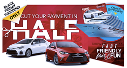 Toyota Of Tampa Bay Luxury Cruise Giveaway For Black Friday $500 Gift Card