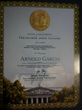 California State Certificate Recognizing Arnold Garcia, Founder of Shine On Hollywood Magazine At United States Global Business Forum