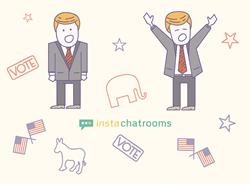 Instachatrooms polls picked Trump