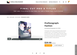 FCPX - ProParagraph Fashion - Pixel Film Studios Plugin