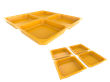 Disposable Plate 2 in 1 is a set of disposable plates that can be divided into a number of smaller plates.