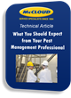 McCloud Services Provides Article on Criteria for Selecting a Pest Management Professional