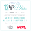 12 Days of Bliss Offers $75 Massages with a Toys for Tots Donation