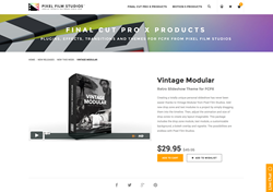 Final Cut Pro X Plugin - Vintage Modular - Pixel Film Studios