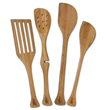 Set of bamboo lefty kitchen tools