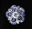 Cartier Platinum, Sapphire and Diamond Clip