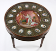 Neoclassical-style low table with hand-painted Sevres-type plaques of Napoleon I