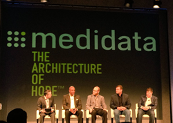 McKinley Hackett, VP - Business Development at BTC, speaking at the panel session at Medidata Symposium