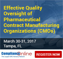 Effective Quality Oversight of Pharmaceutical Contract Manufacturing Organizations (CMOs)