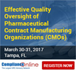 ComplianceOnline Announces Popular Seminar on Effective Quality Oversight of Pharmaceutical CMOs