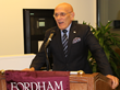 Ron Belmont, Mayor of Harrison, discussed the town's close relationship with Fordham Westchester at the University's Fall Gratitude Reception on Thursday, November 10.