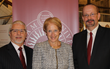 L-R: Anthony Davidson, Dean of the School of Professional and Continuing Studies; Dr. Marsha Gordon, President/CEO, Business Council of Westchester; Grant Grastorf, Academic Operations Administrator