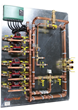Custom-sized Distribution Panels  for Speed and Economy in Hydronic Heating Installations