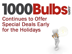 1000Bulbs.com Continues to Offer Special Deals Early for the Holidays