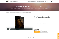 FCPX Plugin - ProFreeze Cinematic - Pixel Film Studios