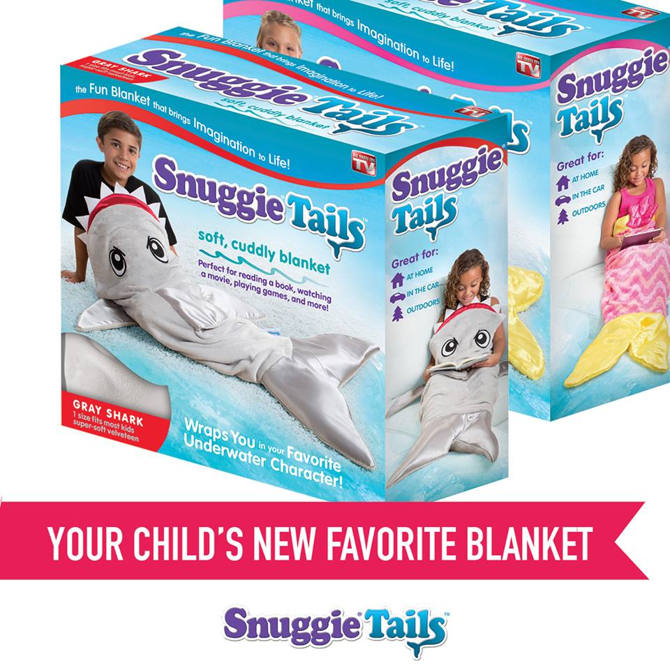 Makers of the snuggie blanket create new product line for for Snuggie tails clown fish