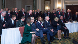 HRH Prince Haakon and his staff take their places at the Canada – Norway Symposium on Security in the Arctic, at the Chateau Laurier in Ottawa, Canada