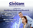 "Civicom Sponsors ""Future Pharma"" British Healthcare Business Intelligence Association (BHBIA) Winter Seminar 2016"