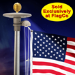 For the first time, The Flag Company, Inc. Presents Competitively-Priced Commercial Grade Tapered Flagpoles for Homeowners and Revolving Solar Starlight Beacon
