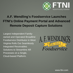 A.F. Wendling's Foodservice Launches FTNI's ETran Integrated Receivables Platform | Image