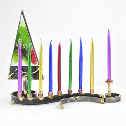 Christmas Tree Designed Hanukkah Menorah