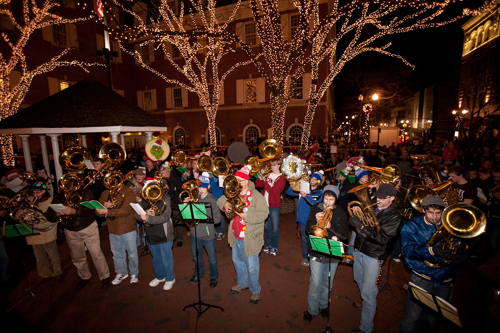 unique fun of mayors tree lighting tuba christmas opens the holiday season in lancaster pa