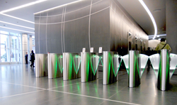 revolving door, turnstile, optical turnstile, perimeter protection, access control, building security, active shooter, tailgating, growth, market leader