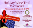 Garden State Wine Growers Association to Hold Holiday Wine Trail Weekend, November 25-27