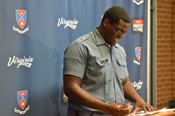 Silas Dzansi signs his National Letter of Intent to attend Virginia Tech