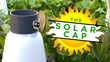 The Solar Cap by Safegrow, a solar-powered mini greenhouse for home gardening.