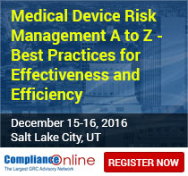 Medical Device Risk Management A to Z - Best Practices for Effectiveness and Efficiency